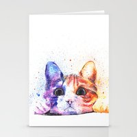 kitty Stationery Cards featuring Kitty by Liza's Brushes