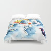 koi Duvet Covers featuring Koi  by Bridget Davidson