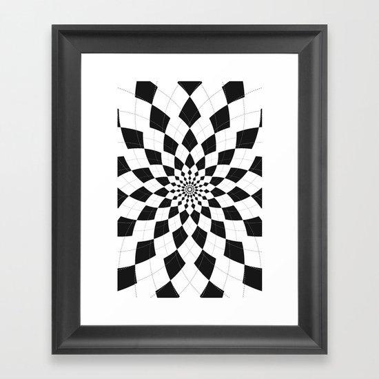 Black & White Argyle Framed Art Print