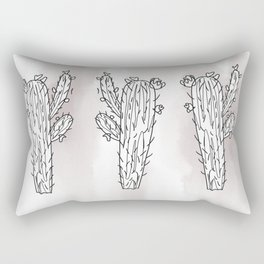 Purple watercolor cactus Rectangular Pillow