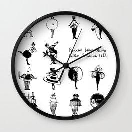 Bauhaus Ballet Costume Party (Oskar Schlemmer1922) Wall Clock
