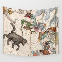 Vintage Star Atlas - Constellation Map Wall Tapestry