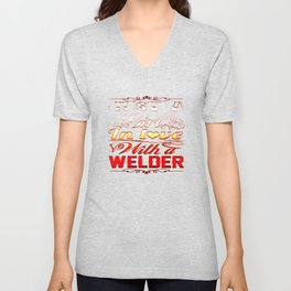 In love with a Welder Unisex V-Neck
