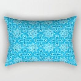 Blue Star Flower Rectangular Pillow