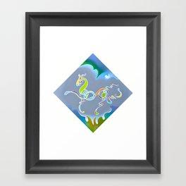 My Neigh-bor Framed Art Print