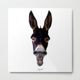 Laughing Donkey Metal Print