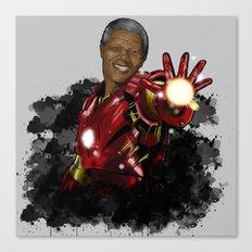 Iron Mandela Canvas Print