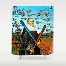 THE F22 RAPTOR HUNTER IN EARLY SPRING I Shower Curtain