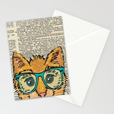 Orange Kitty Cat Stationery Cards