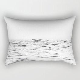 WHITE - SEA - WAVES - WATER - WHALE - NATURE - ANIMAL - PHOTOGRAPHY Rectangular Pillow