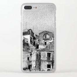 Tra la roccia e il cielo Clear iPhone Case