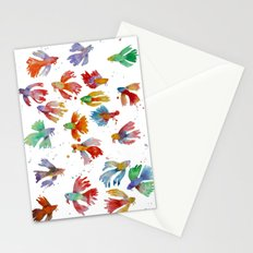 Colorful fishes Stationery Cards