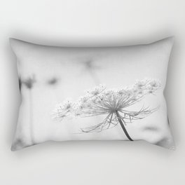 AFE Queen Anne's Lace BW Rectangular Pillow