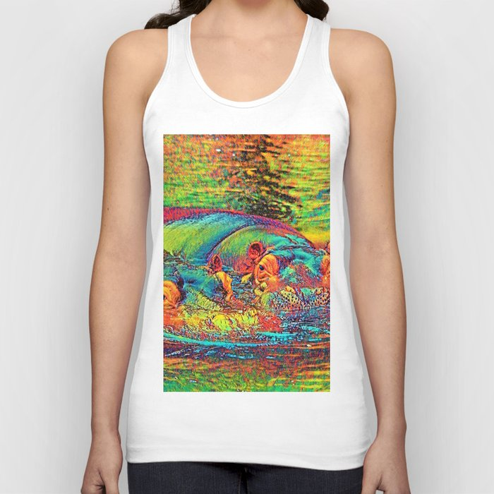 AnimalColor_Hippo_003_by_JAMColors Unisex Tanktop