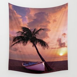 a night in the Seychelles Wall Tapestry