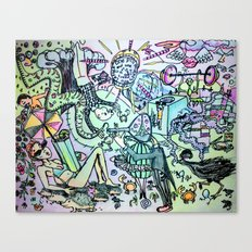colorful doodling Canvas Print