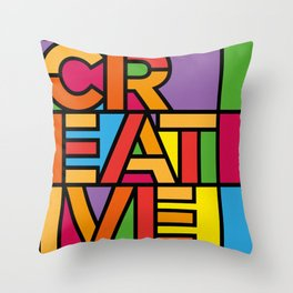 Creative - Stained Glass Throw Pillow