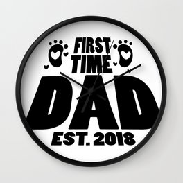 First Time Dad To Be Fathers Day Gift - Promoted Daddy Wall Clock