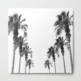 Bohemian Black & White Palms #1 #minimal #tropical #decor #art #society6 Metal Print