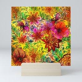 Tropical Hot Heat Flower Hibiscus Garden Mini Art Print