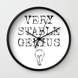 Stable Genius Wall Clock