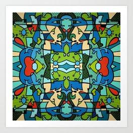 Vert Accord Multi Art Print