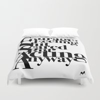 courage Duvet Covers featuring Courage by blugge