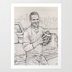 Brett Favre Art Print