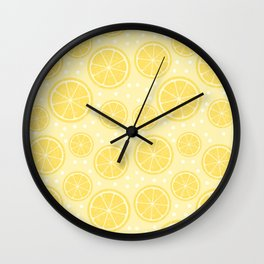 Fresh Lemon Pattern Wall Clock