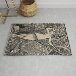 Eve And The Serpent Rug