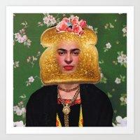 Toast Frida Art Print