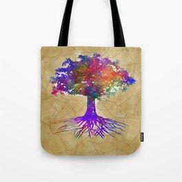 Tree Of Life Batik Print Tote Bag