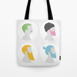 4x Mister hipster Tote Bag