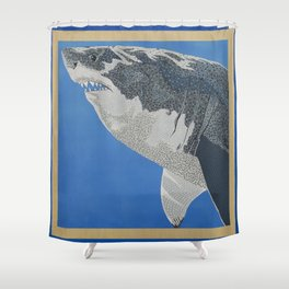 Fool Like You For Breakfast- Great White Shark Shower Curtain