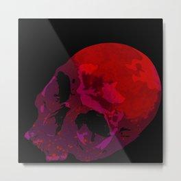 Blood Moon Skull Metal Print