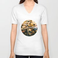 bikes V-neck T-shirts featuring Bikes by GF Fine Art Photography
