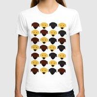 labrador T-shirts featuring Labrador dog pattern by Verene Krydsby