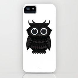 Black Owl iPhone Case