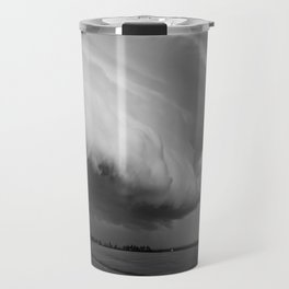 Cape Tryon Vortex Black and White Travel Mug