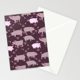 Pigs Pattern6 Stationery Cards