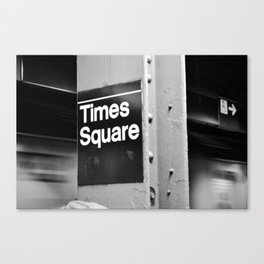 Times Square Metro Canvas Print