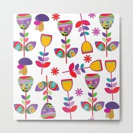 Floral pattern #5E Metal Print