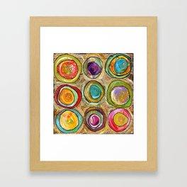 9 eggs Framed Art Print