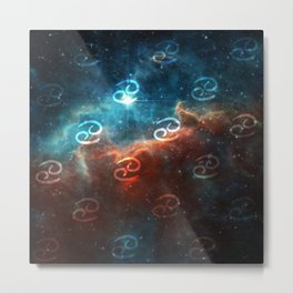 Cancer Cosmos Metal Print