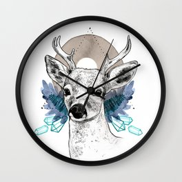 The Deer (Spirit Animal) Wall Clock