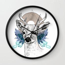 The Deer (Spirit Animal) Wall Clock