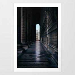 Paris Columns Art Print