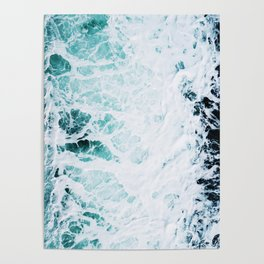 Water, Sea, Ocean, Wave, Blue, Nature, Modern art, Art, Minimal, Wall art Art Print Poster