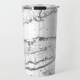 Vintage Map of Long Island New York (1842) BW Travel Mug