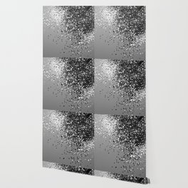 Sparkling Silver Gray Lady Glitter #1 #shiny #decor #art #society6 Wallpaper